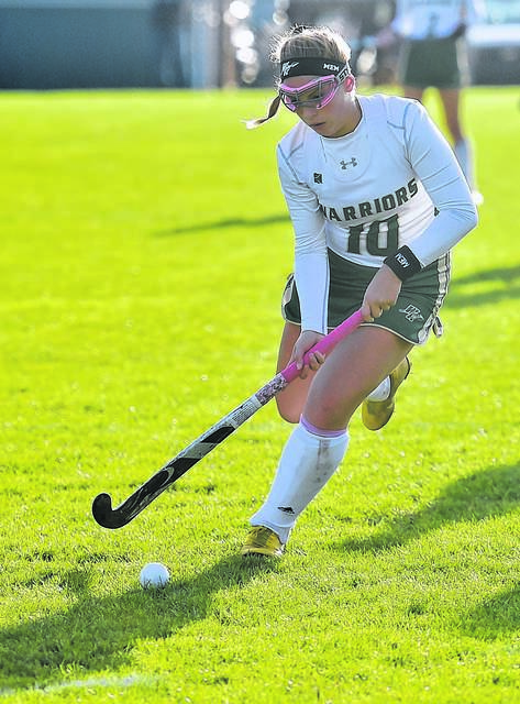 Wyoming Area's Toni Minichello had a hand in all three of the team's goals as the Warriors won a first-round state game for the second straight season and look to advance to the PIAA Class A semifinals for the first time in school history today. Times Leader file photo