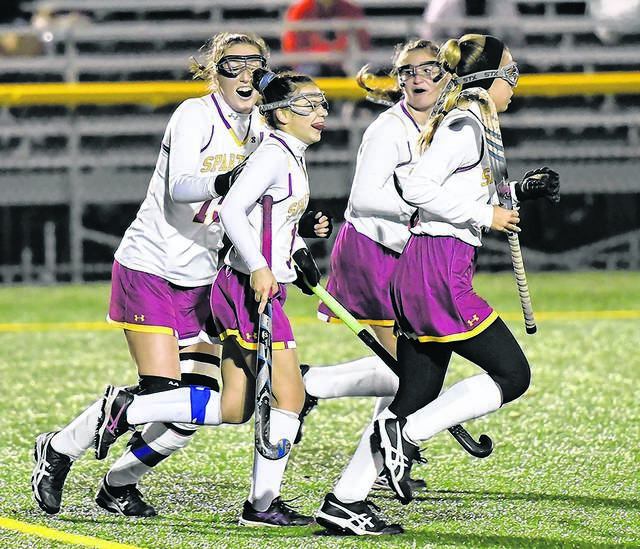 Play-making senior midfielder Rina Tsioles, second from left, will try to lead Wyoming Valley West into the PIAA Class 2A semifinals for a third straight season when the Spartans face Northern York in a state quartefinal game Saturday. Tony Callaio file photo | For Times Leader