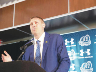 Ricky Rahne introduced as Old Dominion head coach with an assist from James Franklin