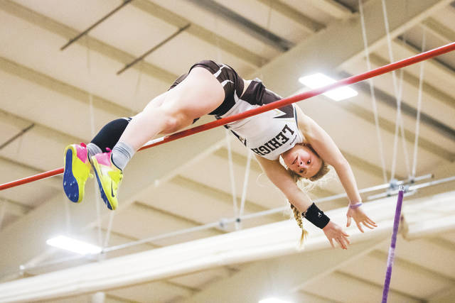 Coughlin alum Madisyn Hawkins is looking to add to her pole vault resume with a Patriot League championship this indoor season for Lehigh. Don Paul