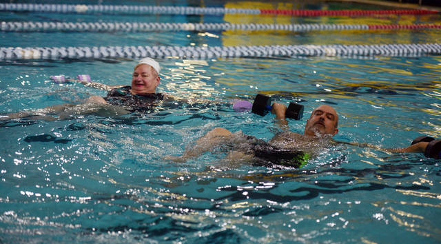 Wilkes-Barre resident Joe Tutella said the Arthritis Foundation Aquatics Program at the Wilkes-Barre YMCA has helped him with weight loss needed to receive surgery for pinched nerves in his back. Aimee Dilger|Times Leader