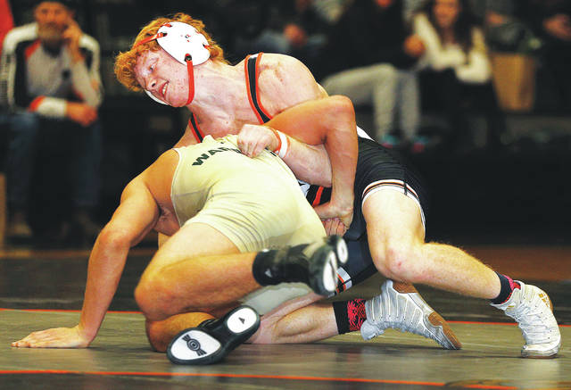 Tunkhannock's Gavin D'Amato (top, left photo) and Dave Evans (top, right photo) are both two-time District 2 champions who are hunting for gold and another trip to states this weekend.                                  Fred Adams file photo | For Times Leader