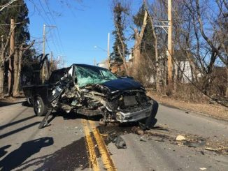 Police: Driver flees after crashing truck