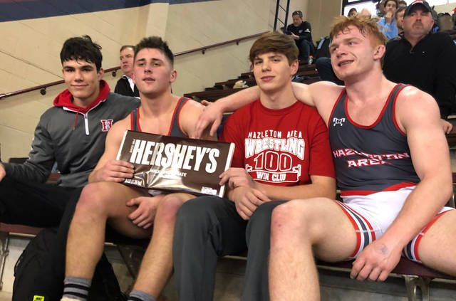 Hazleton Area's Charles Everdale, Jake Marnell, Bryce Molinaro and Seth Hunsinger all advanced to states in Class 3A, the most by a single WVC school since 1985.                                  Dave Rosengrant | For Times Leader