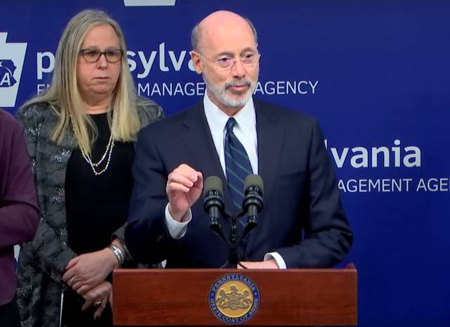 Dr. Levine with Governor Wolf