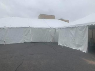 Triage tents going up at Geisinger hospitals