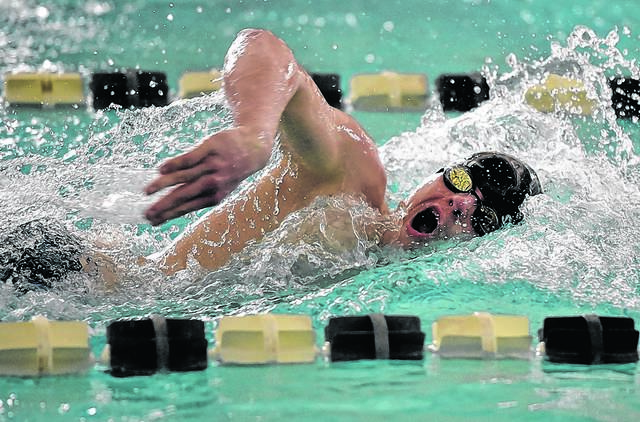 Dallas senior Shane Szczecinski reached the top of the District 2 Class 2A medal stand four times after first-place finishes this season, then made a fifth trip after leading the Mountaineers to the district team crown.                                  Aimee Dilger   Times Leader