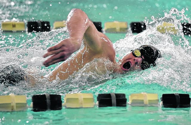 Dallas senior Shane Szczecinski reached the top of the District 2 Class 2A medal stand four times after first-place finishes this season, then made a fifth trip after leading the Mountaineers to the district team crown.                                  Aimee Dilger | Times Leader
