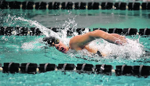 Dallas standout Melissa Leonard paced the Mountaineers to an 11-0 regular season and broke the District 2 Class 2A record in the 200 freestyle, on her way to finishing as the Times Leader co-girls swimmer of the year.                                  Aimee Dilger | Times Leader