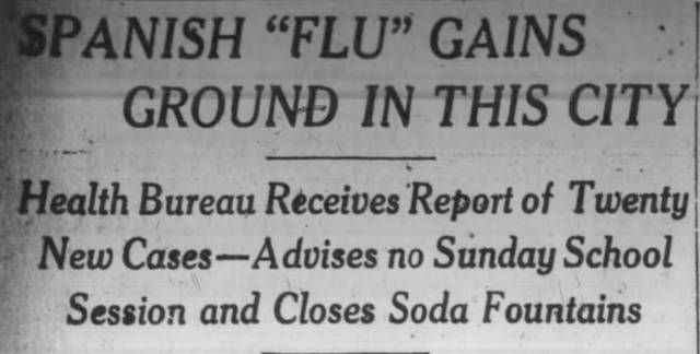 Look Back: 'Social distance' warnings in 1918