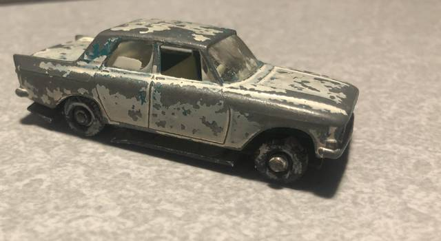 This Matchbox Ford Zephyr was purchased at a local flea market for restoration, which will require disassembly, cleaning and paint removal. John Erzar | Times Leader