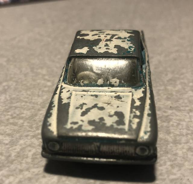 <p>This Matchbox Ford Zephyr was purchased at a local flea market for restoration, which will require disassembly, cleaning and paint removal.</p> <p>John Erzar | Times Leader</p>