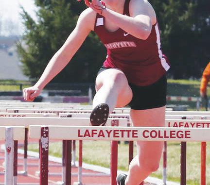 Jillian Warabak starred for the Lafayette College trackan field team this past season.