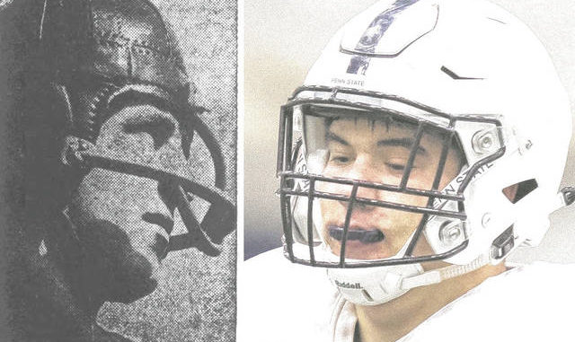 Hanover's Jon Mellus, left, and West Hazleton's George Platukis were the first locals ever selected in the NFL Draft. Both were chosen in 1938. Lake-Lehman's Connor McGovern, right, was the last. He was picked in the third round by the Dallas Cowboys last year. Times Leader file photo
