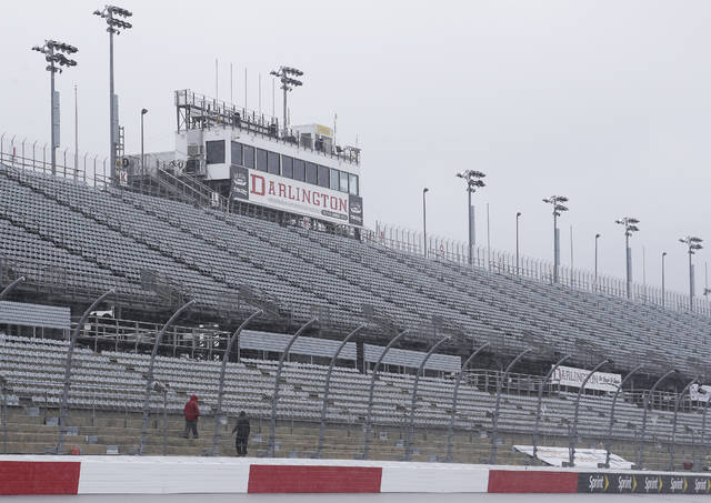 <p>The grandstands at Darlington Raceway will remain empty when Cup Series racing returns to the track on May 17 with no fans in attendance.</p> <p>Terry Renna | AP file photo</p>