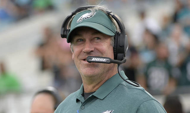 Coach Doug Pederson and the Eagles will have to navigate a tough stretch against Seattle (Nov. 30), at Green Bay (Dec. 6) and vs. New Orleans (Dec. 13). Phelan M. Ebenhack | AP file photo