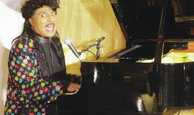 Little Richard performs at the 93rd birthday and 88th year in show business gala celebration for Milton Berle, in Beverly Hills, Calif. Little Richard, the self-proclaimed 'architect of rock 'n' roll' whose piercing wail, pounding piano and towering pompadour irrevocably altered popular music while introducing black R&B to white America, died Saturday.