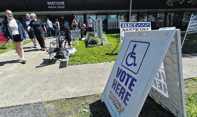 Pennsylvania voters will cast their ballots in the state's delayed primary on Tuesday. Times Leader file photo
