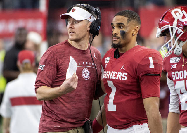 <p>Oklahoma coach Lincoln Riley has backed his former quarterback, saying that Jalen Hurts can be more than just a 'gadget guy' in the NFL.</p> <p>Jeffrey McWhorter | AP file photo</p>