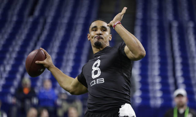 Quarterback Jalen Hurts' athleticism and accomplishments during an eventful college career led to the Eagles using a second-round pick on him despite a huge financial commitment to starter Carson Wentz. Michael Conroy | AP file photo