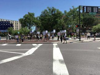 Protesters take to Public Square