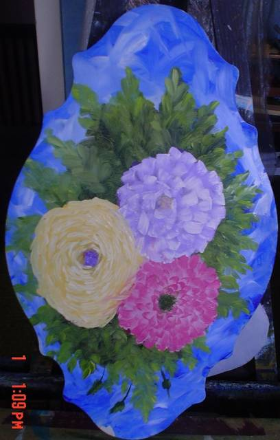 <p>Frank Kluk of Wilkes-Barre Townshp painted a colorful bouquet.</p> <p>Submitted photo</p>