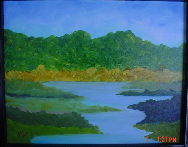 <p>For artist Frank Kluk of Wilkes-Barre Township, a landscape might suggest a mountain or lake he remembers, but it's not an exact reproduction.</p> <p>Submitted photo</p>