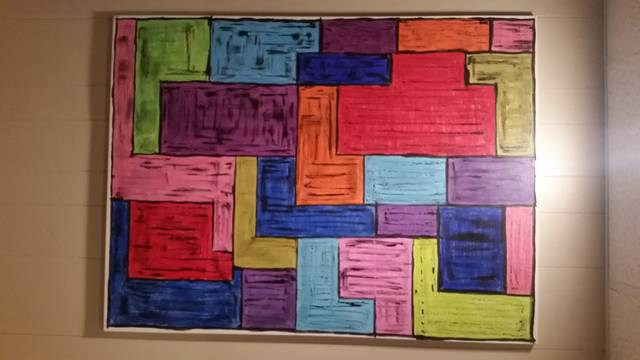 <p>'Sectioned' is a somewhat abstract piece, one in which artist David K. Nieman made use of some of is favorite vibrant colors.</p> <p>Submitted photo</p>