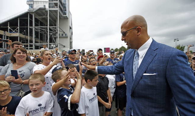 Penn State coach James Franklin expects that the throngs of fans the team is used to seeing won't be able to be at Beaver Stadium if games are played as scheduled this fall. Chris Knight | AP file photo
