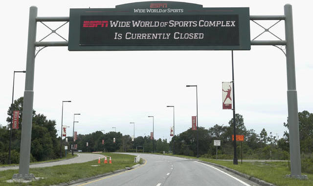 ESPN's Wide World of Sports at Walt Disney World remains closed while officials work to get it ready to host 22 NBA teams for a plan to finish the 2019-20 season. John Raoux | AP photo