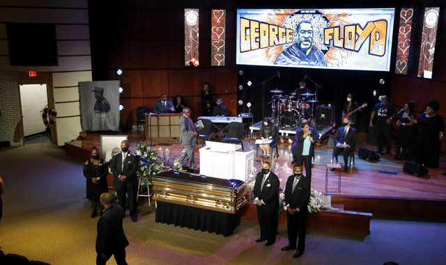 Get your knee off our necks!': Floyd mourned in Minneapolis ...