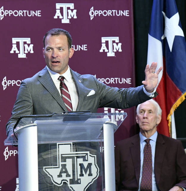 <p>Texas A&M athletic director Ross Bjork said the school has conducted just under 500 COVID-19 tests on coaches, staff and athletes since May 18.</p> <p>Dave McDermand | AP file photo, College Station Eagle</p>