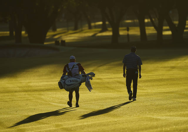 <p>Ryan Palmer was the first to hit a shot on the PGA Tour since it was suspended in mid-March because of the coronavirus pandemic.</p> <p>David J. Phillip   AP photo</p>