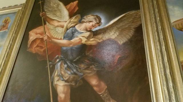 <p>The artist created a dynamic sense of motion in his representation of St. Michael the Archangel.</p> <p>Mark Guydish | Times Leader</p>