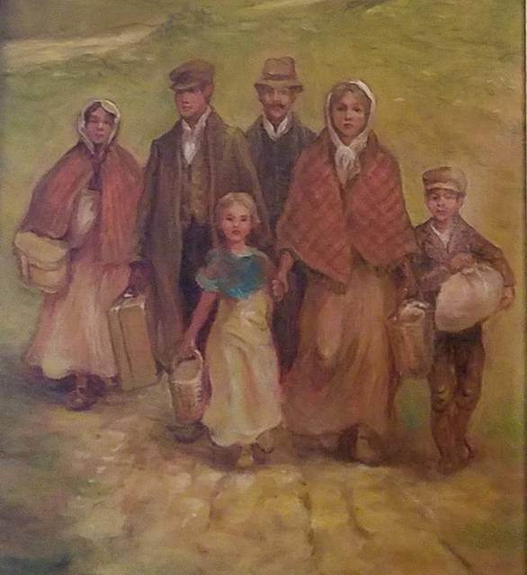 <p>Artist Henry Antoni Pospieszalski, who was born in Poland himself, painted this depiction of immigrants who arrived in the United States from Poland and settled in Dupont more than a century ago</p> <p>Mark Guydish | Times Leader</p>