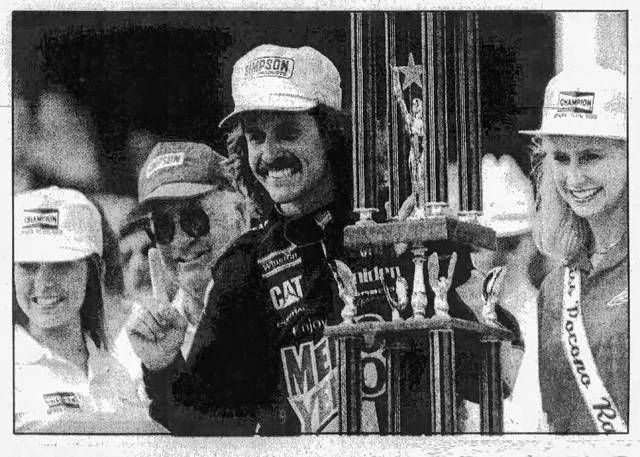 Kyle Petty's victory at Pocono Raceway in 1993 including dodging a fan who ran across the track late in the race.                                  Times Leader file photo