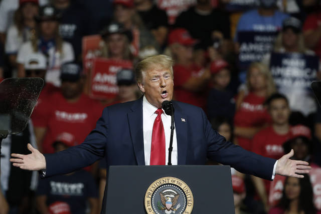 <p>President Donald Trump speaks during a campaign rally in Tulsa, Okla., Saturday, June 20, 2020. (AP Photo/Sue Ogrocki)</p>