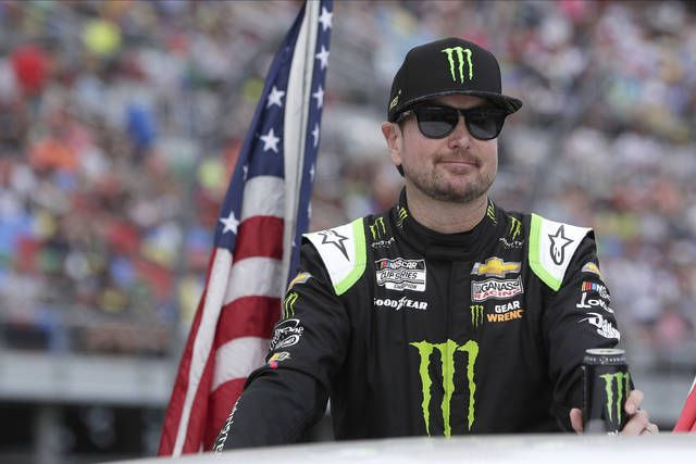 Kurt Busch, shown prior to this season's Daytona 500, is ready to take on the challenges of the NASCAR Cup Series doubleheader this weekend at Pocono Raceway.                                  John Raoux   AP file photo