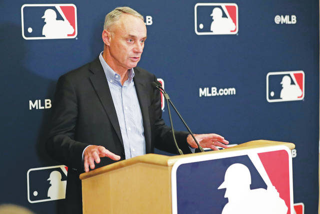 <p>Baseball Commissioner Rob Manfred acknowledged Wednedsay that teams and the players' association 'owe it to our fans to be better than we've been the last three months.'</p> <p>John Raoux   AP file photo</p>