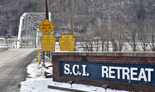 The entrance to SCI-Retreat is seen in a file photo. The Newport Township facility is set to close by Saturday, the Pennsylvania Department of Corrections announced Thursday. Times Leader file photo