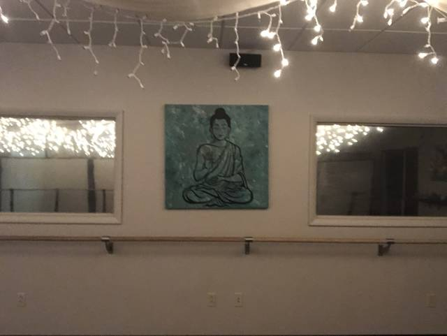 <p>One of the pieces of art making the transition from Zen Barre to Motion Yoga is this one, painted by Selena Mazzella, an art teacher at Ross Elementary.</p> <p>Kevin Carroll | Times Leader</p>