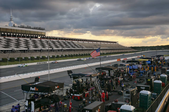 <p>No fans were permitted to be in attendance, but this past weekend at Pocono Raceway still went into the history books.</p> <p>Matt Slocum | AP photo</p>
