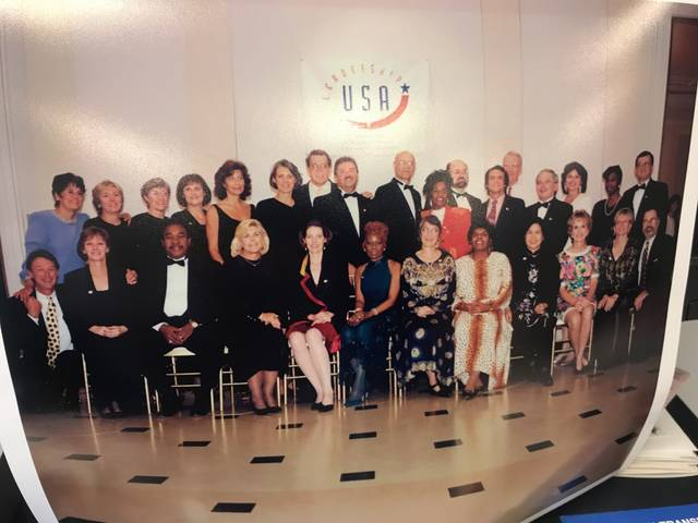 <p>The first, and only, class of Leadership USA in 1995-96. Bill O'Boyle, second row center, chaired the graduation ceremony committee.</p>