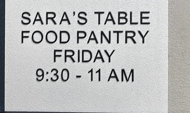 Sara's Table is open from 9:30 to 11 a.m., and promotes a kind and social atmosphere, where guests can make friends and exchange recipes.