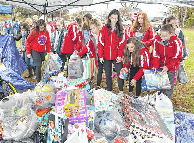 <p>For the second year in a row, the Pittston Area Girls basketball team donated to the Greater Pittston Santa Squad in 2019.</p> <p>Tony Callaio | File photo</p>