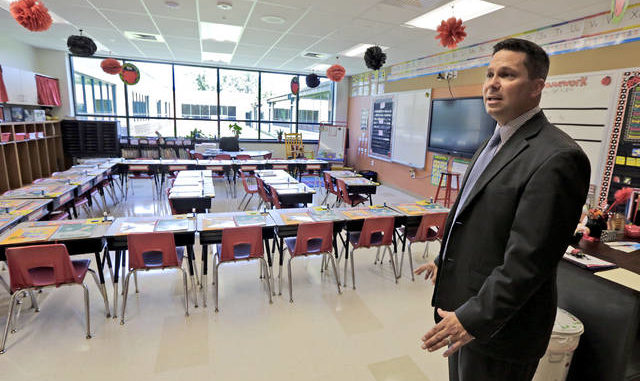 Greater Nanticoke Area School District Superintendent Ron Grevera is seen in a file photo. At the start of a virtual School Board meeting on Thursday, Grevera outlined a plan for students to return to school separated into two groups.                                  Times Leader file photo