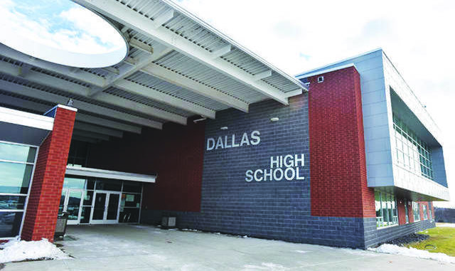 Dallas High School is seen in a file photo. Dallas School District Operations Manager Jason Rushmer told the School Board Monday that schools will re-open Aug. 26 with an 'in-person restricted' plan, meaning all students will be on campus 'with significant modifications.' Times Leader file photo