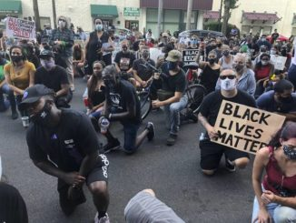 Protest in Allentown after cop uses knee to restrain man