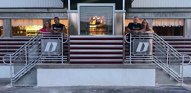 D's Diner on East Main Street in Wilkes-Barre reopened for business on Monday. The owners posted this picture on Facebook. From left: Danielle and Steve Simko; and Dan and Denise DeMellier.