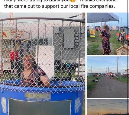 This Facebook post by the Bloomsburg Fair, since removed from the social media site, has gone viral for showing a man dressed as Health Secretary Dr. Rachel Levine, who is transgender, posing in a charity dunk tank. Via Facebook